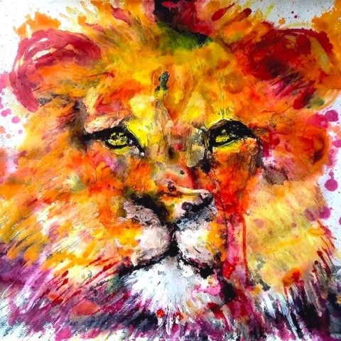 Red Lion 50x65cm