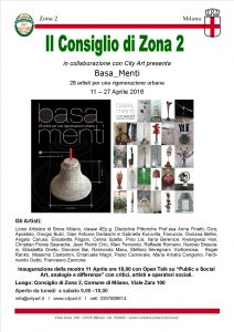 Poster sculpture exhibition Basa Menti